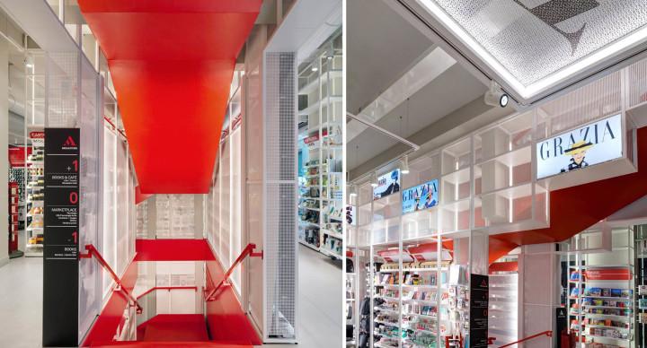 Mondadori Megastore, il nuovo concept store di Milano si tinge di rosso