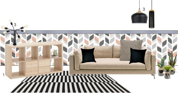 Salone in stile geometrico, ecco come realizzarlo!