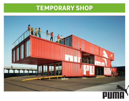 Progettare con i container - temporary shop