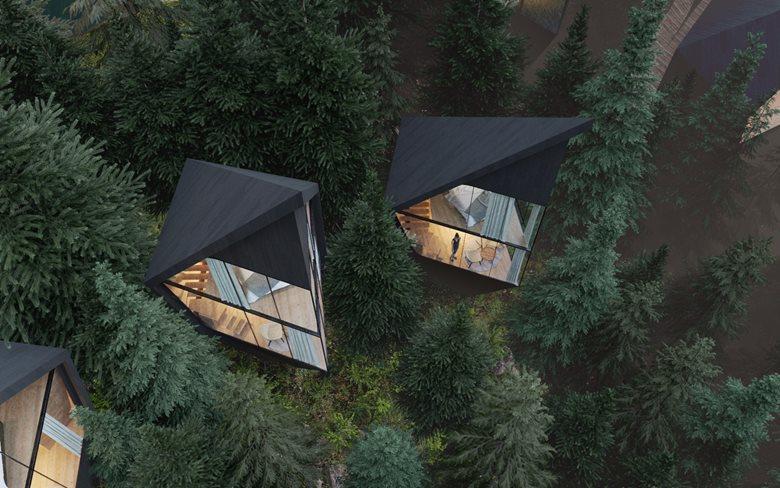 Hotel nei boschi delle Dolomiti