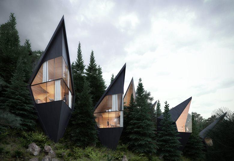 Tree Houses hotel nelle Dolomiti