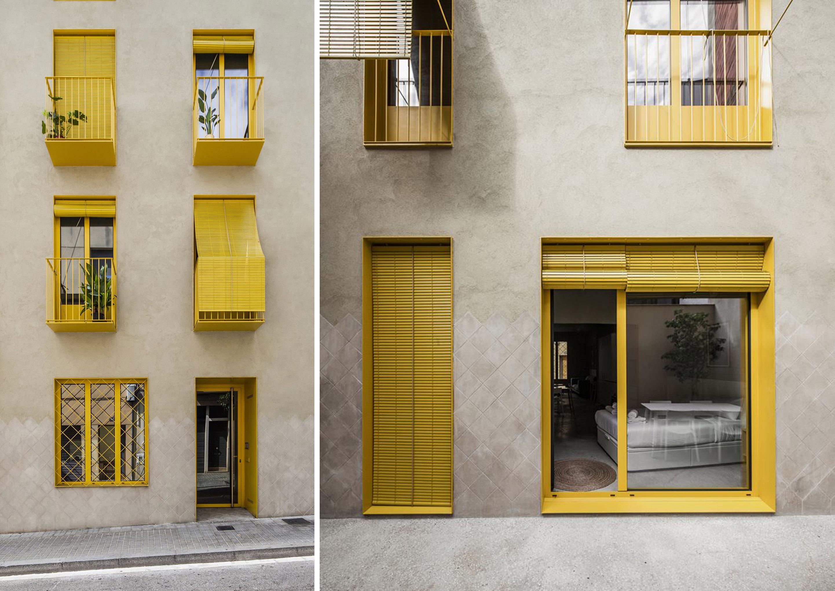 Facciata edificio a Barcellona